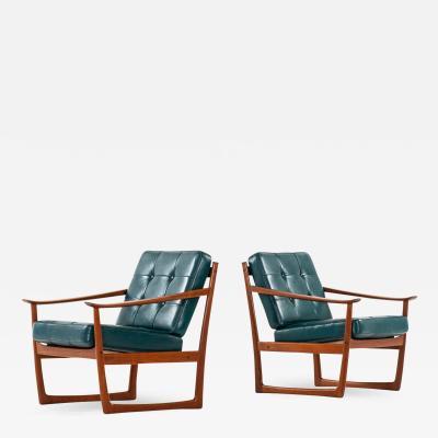 Peter Hvidt Orla M lgaard Nielsen Sleigh Easy Chairs Produced by France Daverkosen