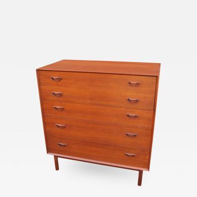 Peter Hvidt Orla M lgaard Nielsen Teak Five Drawer Dresser by Peter Hvidt and Orla M lgaard Nielsen