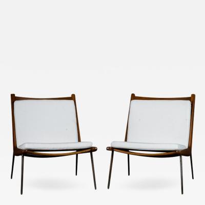Peter Hvidt Pair of Boomerang Chairs by Peter Hvidt