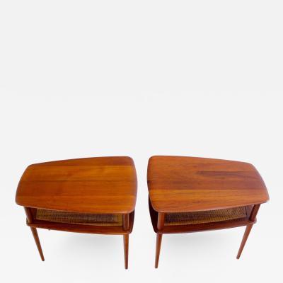 Peter Hvidt Pair of Solid Teak Danish Modern End Tables Designed by Peter Hvidt
