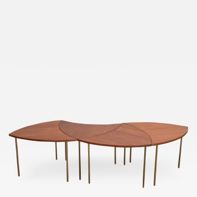 Peter Hvidt Peter Hvidt Teak Crescent Tables