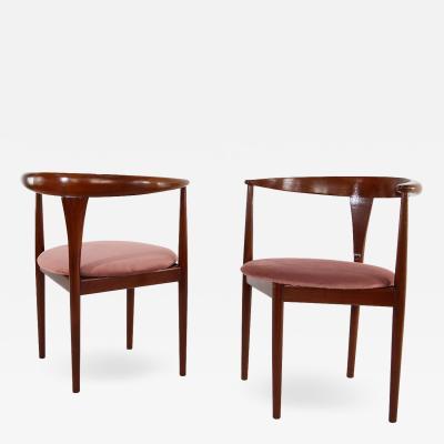 Peter Hvidt Peter Hvidt armchairs with original Soborg Mobiler label