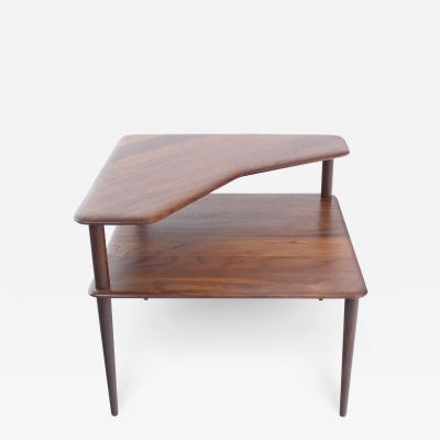 Peter Hvidt Scandinavian Modern Solid Teak Corner Table Designed by Peter Hvidt