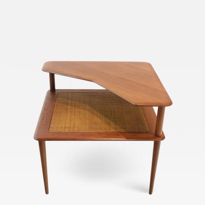 Peter Hvidt Scandinavian Modern Teak Minerva Corner Table by Peter Hvidt