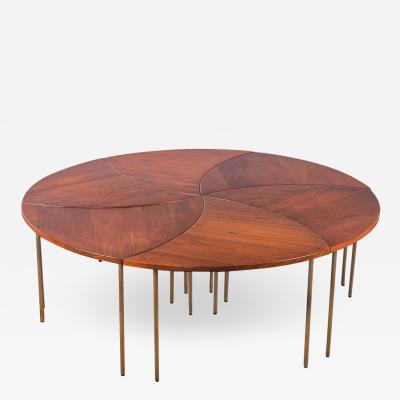 Peter Hvidt Set of 6 Peter Hvidt Pinwheel Tables