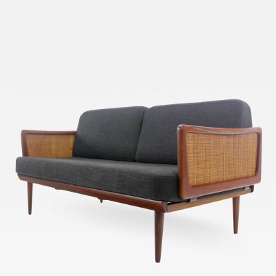Peter Hvidt Unique High Style Scandinavian Modern Drop Arm Sofa Designed by Peter Hvidt