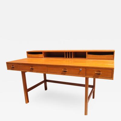 Peter L vig Nielsen Mid Century Teak Flip Top Desk by Peter L vig Nielsen
