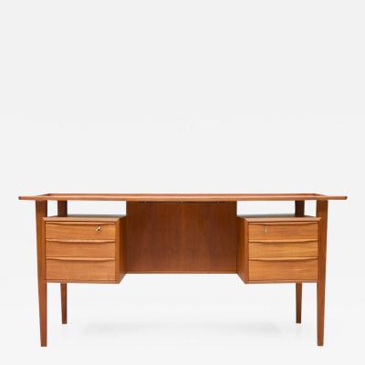 Peter L vig Nielsen Scandinavian Teak Writing Desk by Peter Lovig Nielsen 1966