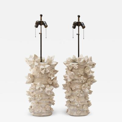 Peter Lane Starburst Glazed Ceramic Table Lamp
