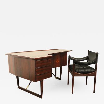 Peter Lovig Nielsen Rosewood Desk by Peter Lovig Nielsen for Hedensted Mobel