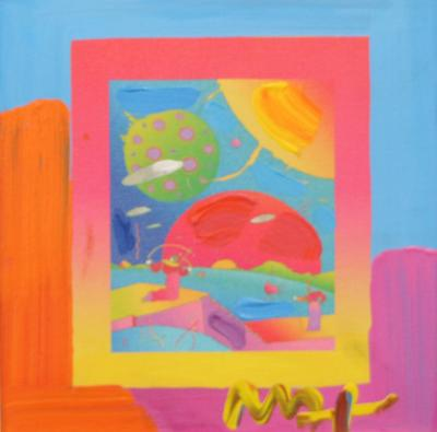 Peter Max Peter Max Mixed Media on Canvas Year of 2250 on Blends Ver 1 2008