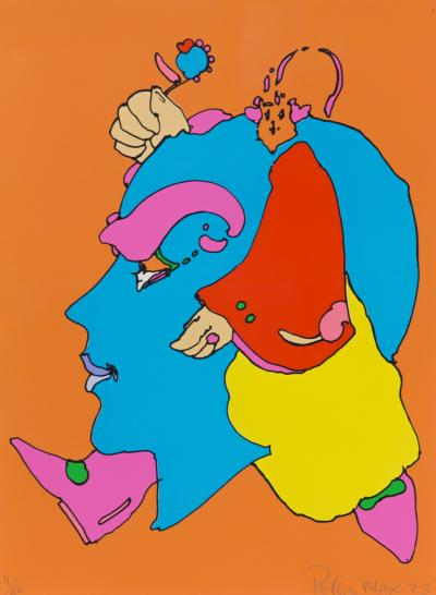 Peter Max Peter Max Untitled III Signed 1973 Serigraph