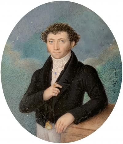 Peter Mayr Miniature Portrait of Louis Skutch