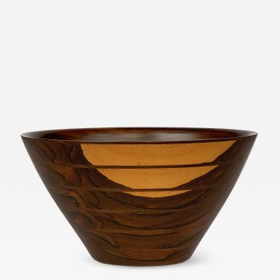 Peter Petrochko Peter Petrochko Carved Padauk and Ziricote Wood Bowl