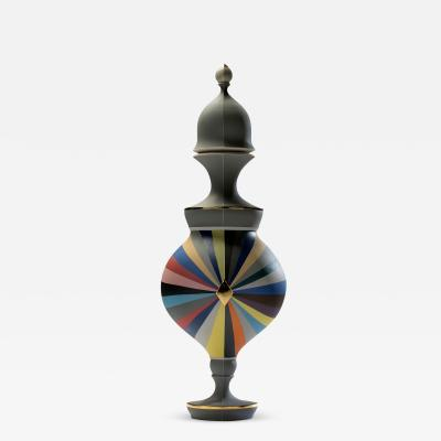 Peter Pincus All Colored Urn Gray Panels Gray Seams 2016