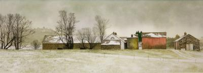 Peter Sculthorpe Frosty Morning on the Farm