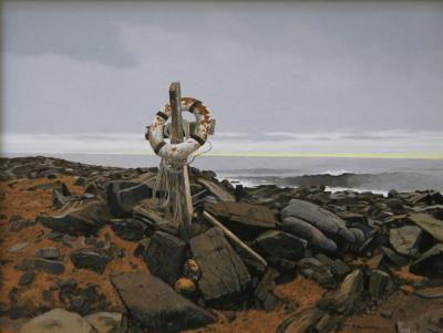 Peter Sculthorpe Life Ring Christmas Cove