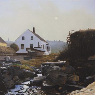 Peter Sculthorpe Morning Fog Trefethen House Monhegan Island Maine