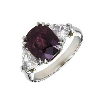 Peter Suchy 5 69 Carat Peter Suchy Purple Sapphire Diamond Platinum Engagement Ring