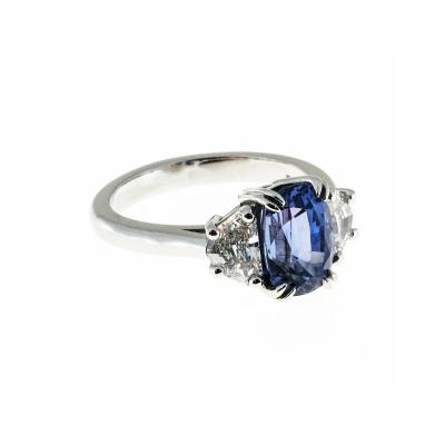 Peter Suchy GIA Cert Violet Blue Purple Sapphire Diamond Platinum Ring