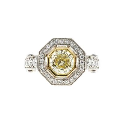 Peter Suchy Peter Suchy 1 12 Carat Light Natural Yellow Diamond Platinum Engagement Ring