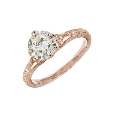 Peter Suchy Peter Suchy 1 15 Carat Transitional Cut Diamond Rose Gold Engagement Ring