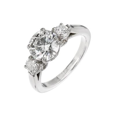 Peter Suchy Peter Suchy 2 25ct Three Stone Diamond Platinum Engagement Ring