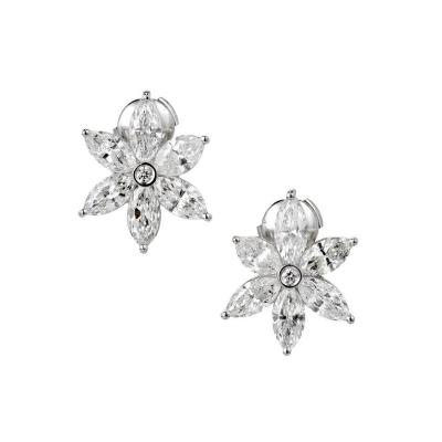 Peter Suchy Peter Suchy 6 51 Carat Marquise Diamond Platinum Flower Earrings