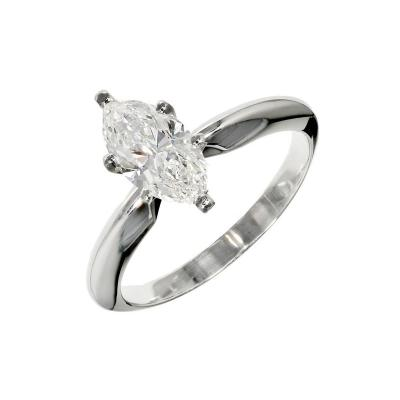 Peter Suchy Peter Suchy 99 Carart Marquise Diamond Solitaire Platinum Engagement Ring