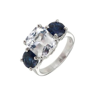 Peter Suchy Peter Suchy GIA Certified 5 65 Carat Octagonal Sapphire Platinum Engagement Ring