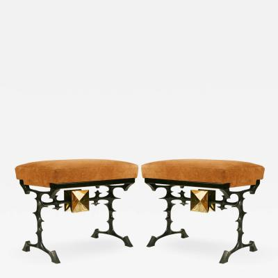 Peter Van Heeck Pair of stools