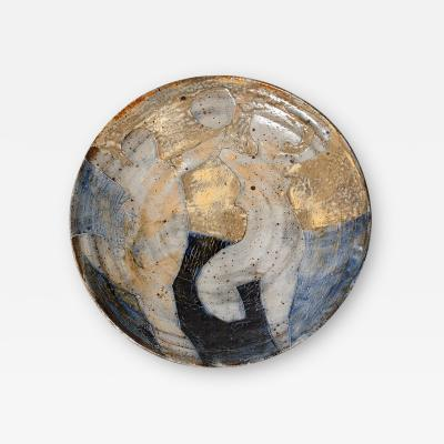 Peter Voulkos Peter Voulkos Ceramic Charger with Two Female Nudes Dancing Beneath the Moon