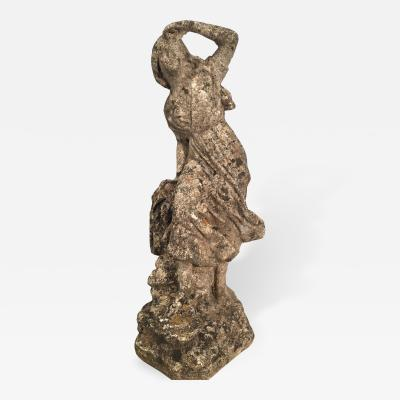 Petite English Cast Stone Figure of a Woman