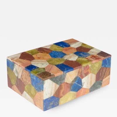 Petite Multicolored Stone Box