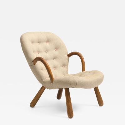 Philip Arctander Clam Chair by Philip Arctander 1940s