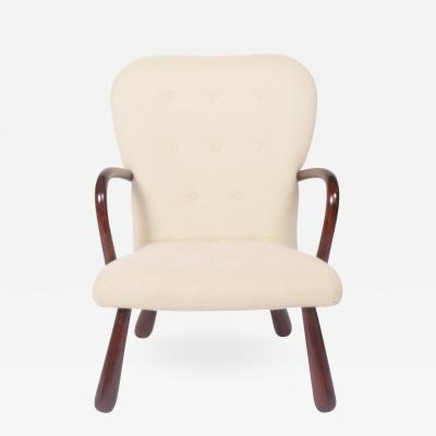 Philip Arctander Clam Easy Chair Attributed to Philip Arctander