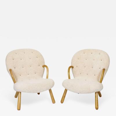 Philip Arctander Pair of Philip Arctander Clam Chairs