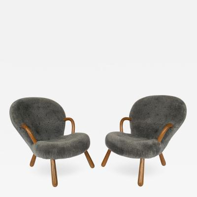 Philip Arctander Pair of Philip Arctander Lounge Chairs for Paustian