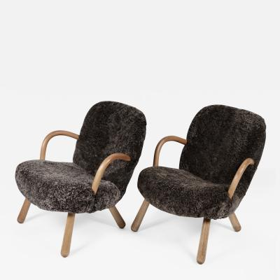 Philip Arctander Philip Arctander Attributed Clam Chairs Sweden 1950s