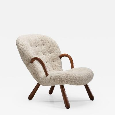 Philip Arctander Phillip Arctander Clam Chair Denmark 1940s