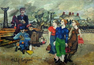 Philip Howard Evergood Railroad Mens Wives