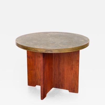 Philip Kelvin LaVerne Acid Etched Side Table