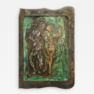 Philip Kelvin LaVerne Adam and Eve a Unique Wall Sculpture by Philip Kelvin LaVerne
