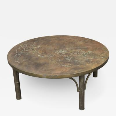 Philip Kelvin LaVerne Bronze Coffee Table by Philip and Kelvin LaVerne