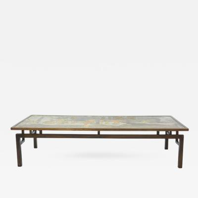 Philip Kelvin LaVerne Monumental American Modern Bronze and Patinated Chan Low Table P K Laverne