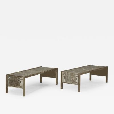 Philip Kelvin LaVerne Pair of Coffee Tables by Philip and Kelvin Laverne