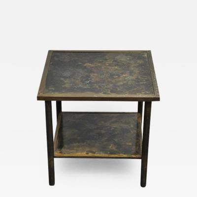 Philip Kelvin LaVerne Philip and Kelvin LaVerne Bronze Side Table