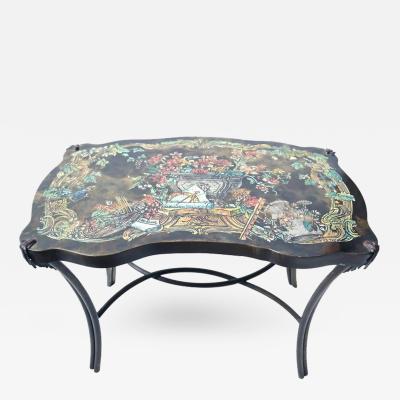 Philip Kelvin LaVerne Philip and Kelvin LaVerne Pompadour Occasional Table in Patinated Bronze