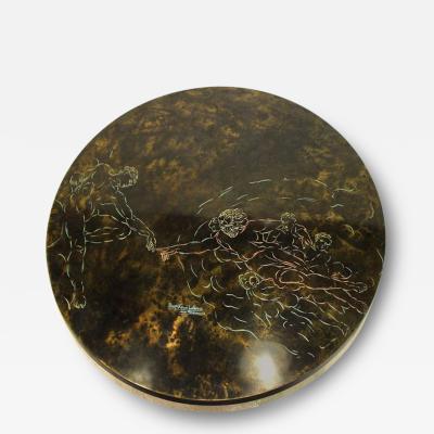 Philip Kelvin LaVerne Rare and Large Bronze Coffee Table by Philip and Kelvin Laverne