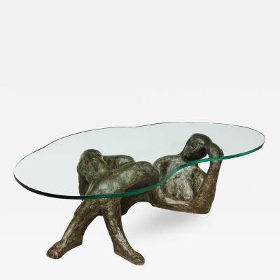 Philip Kelvin LaVerne Reclining Nude Rare Cocktail Table by Phillip Kelvin LaVerne